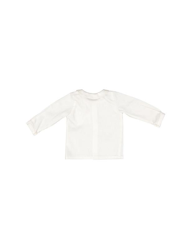 پیراهن نخی آستین بلند نوزادی پسرانه Sasan - دایان