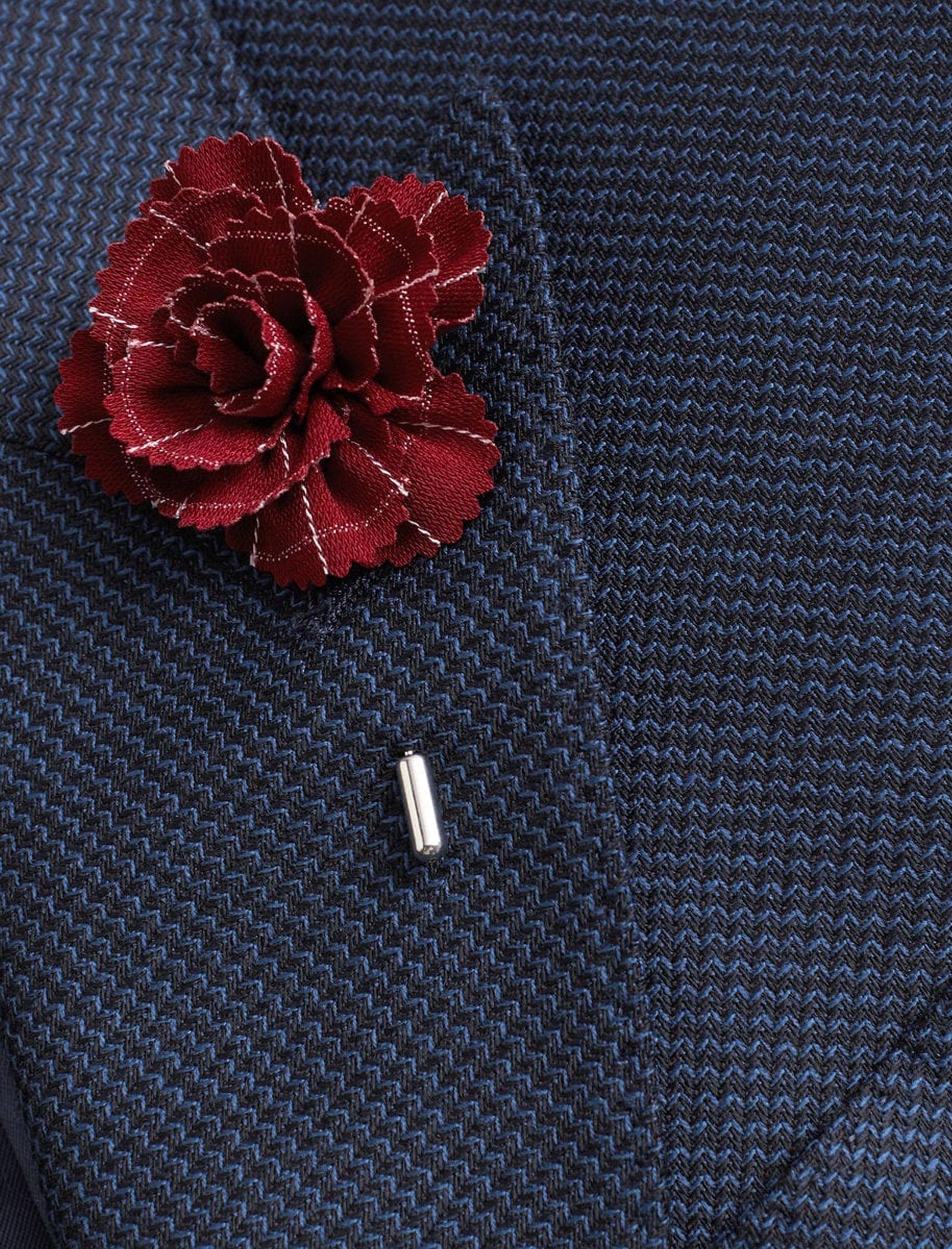 سنجاق روی کت مردانه - مانگو - زرشکي - 3