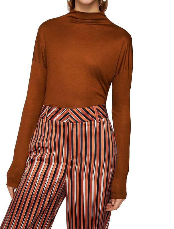 تی شرت ویسکوز یقه ایستاده زنانه - مانگو