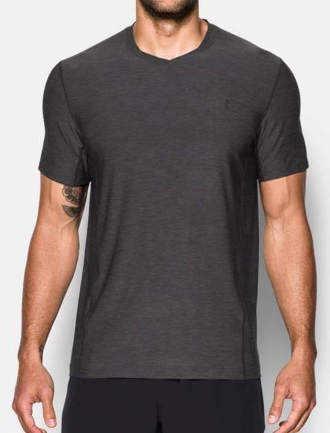 تی شرت ورزشی آستین کوتاه مردانه - طوسي - 2