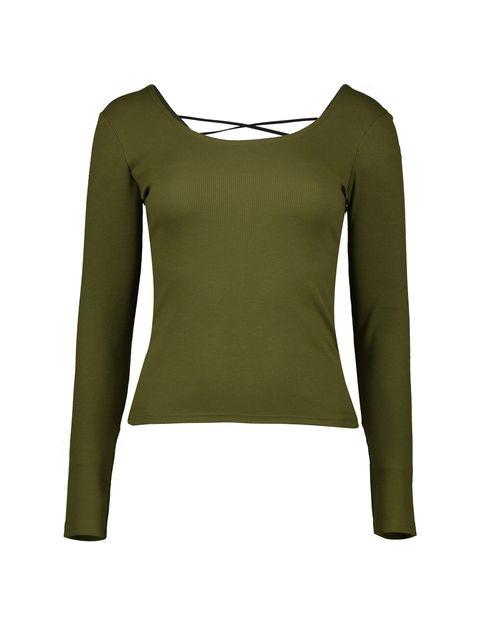 تی شرت یقه گرد زنانه - جنیفر - زيتوني - 1