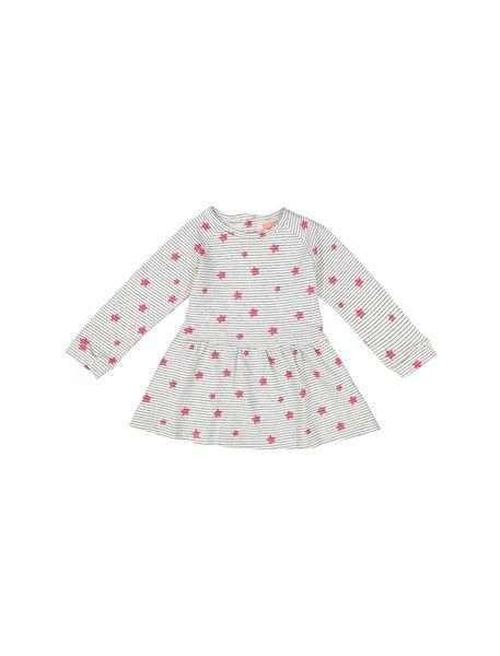 پیراهن نخی نوزادی دخترانه - طوسي - 1