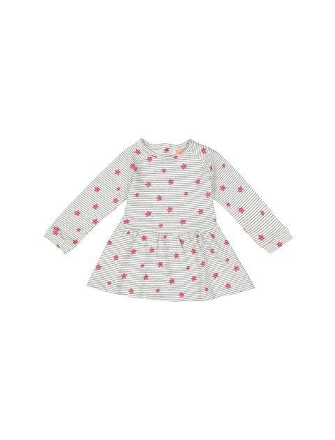پیراهن نخی نوزادی دخترانه - کوتون - طوسي - 1