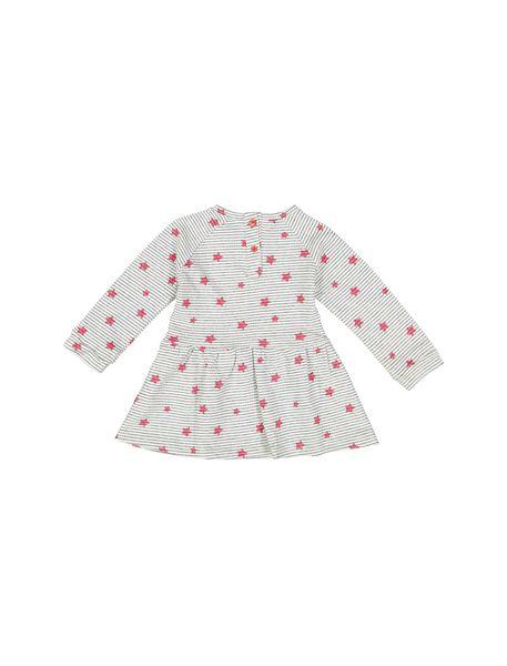 پیراهن نخی نوزادی دخترانه - طوسي - 2