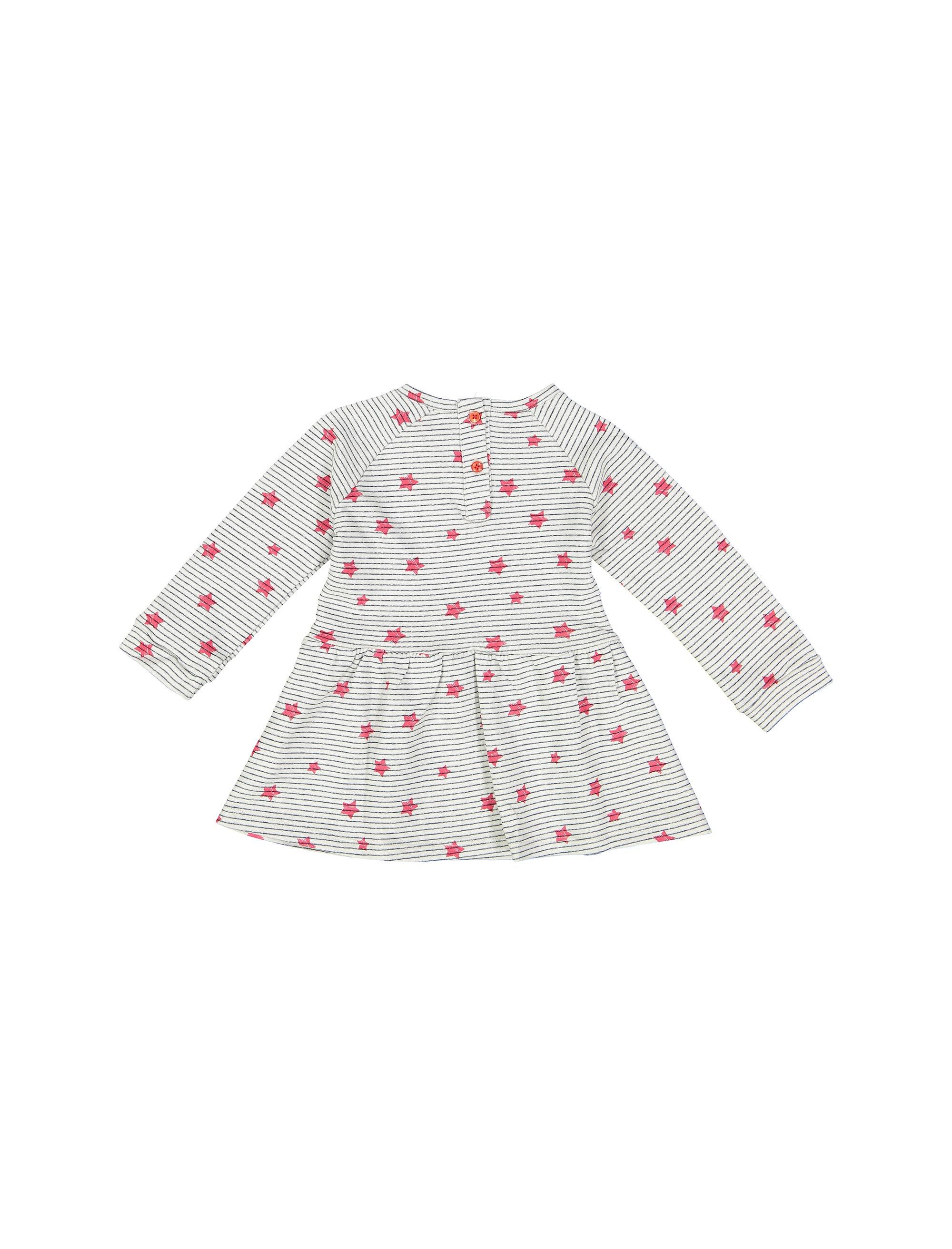 پیراهن نخی نوزادی دخترانه - کوتون - طوسي - 2