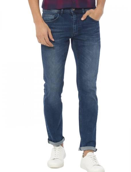 شلوار جین راسته مردانه - آبي - 1
