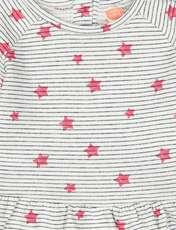 پیراهن نخی نوزادی دخترانه - کوتون - طوسي - 3
