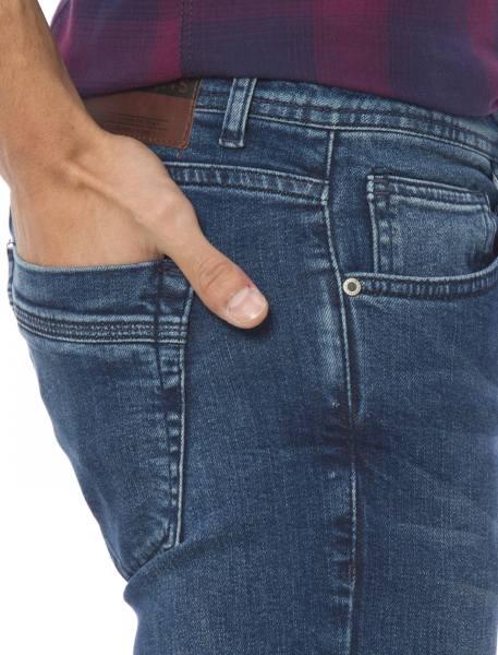 شلوار جین راسته مردانه - آبي - 3