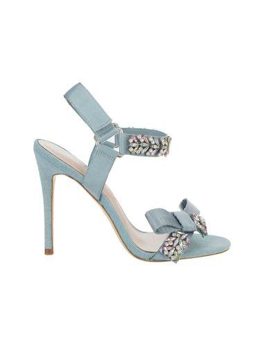 کفش پاشنه بلند پارچه ای زنانه