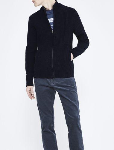 ژاکت نخی زیپ دار مردانه