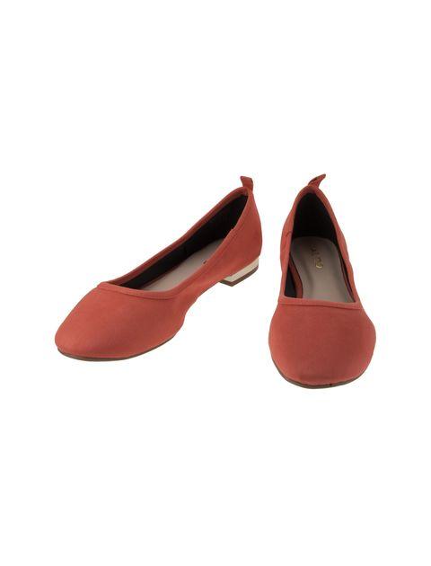 کفش تخت عروسکی زنانه - نارنجي  - 4