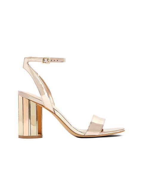 کفش پاشنه بلند زنانه - رزگلد - 1