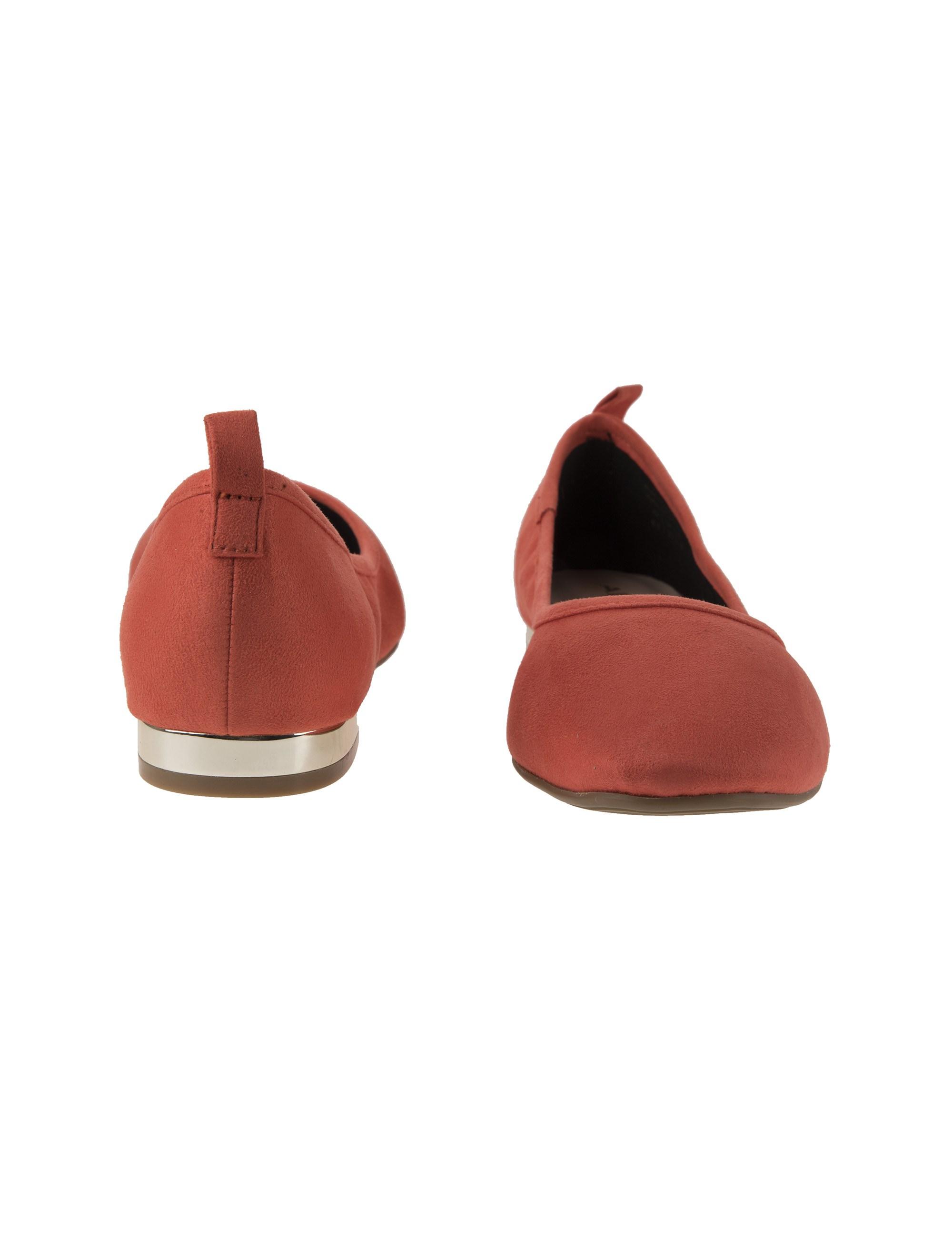 کفش تخت عروسکی زنانه - نارنجي  - 5