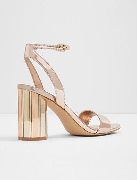 کفش پاشنه بلند زنانه - رزگلد - 2