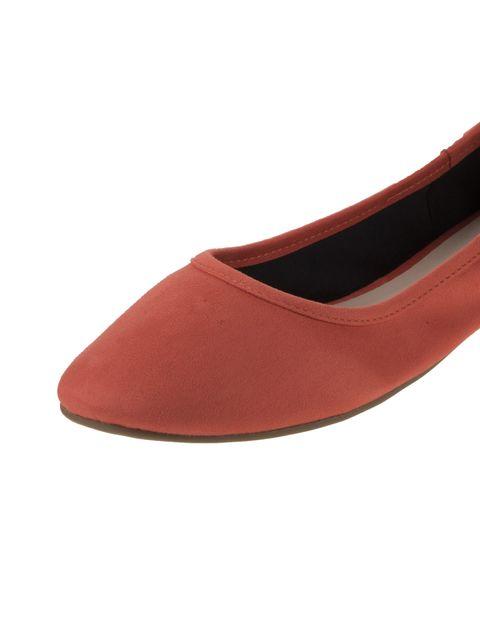 کفش تخت عروسکی زنانه - نارنجي  - 6