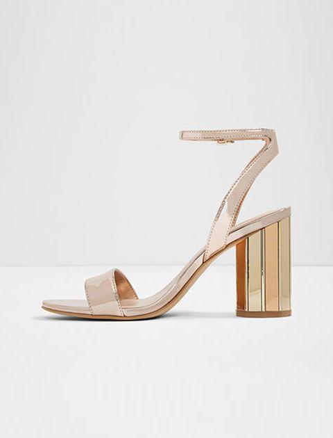 کفش پاشنه بلند زنانه - رزگلد - 3