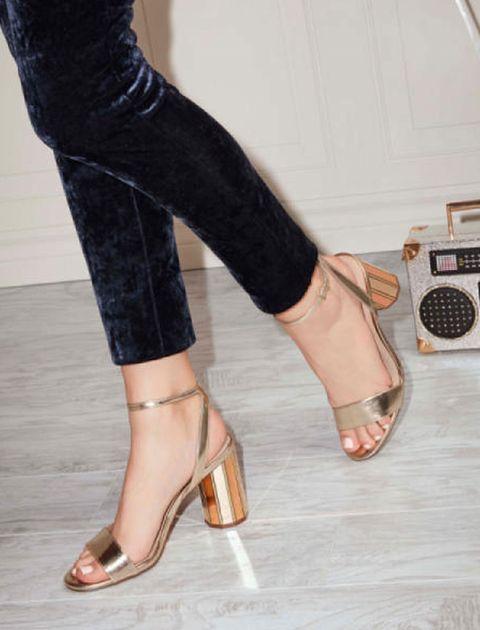 کفش پاشنه بلند زنانه - رزگلد - 5