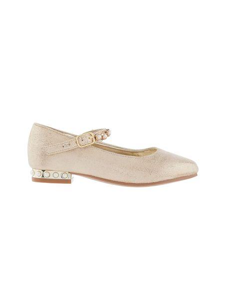 کفش مهمانی بندی دخترانه - طلايي  - 1