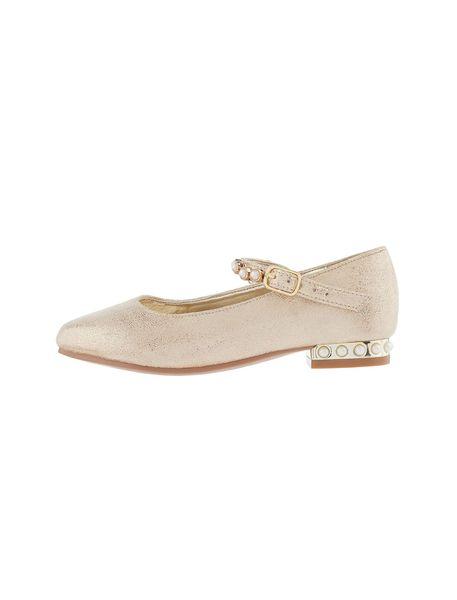 کفش مهمانی بندی دخترانه - طلايي  - 2