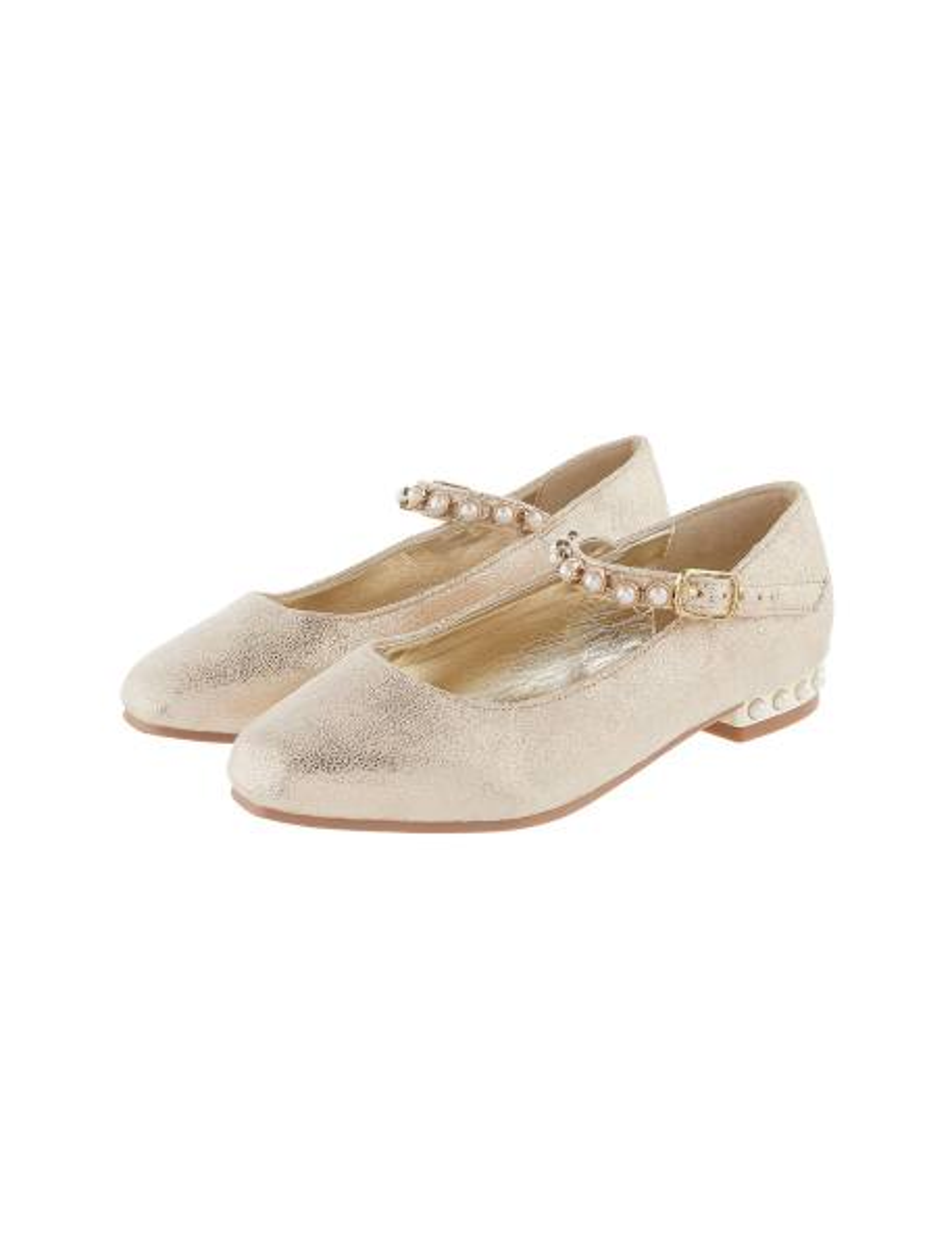 کفش مهمانی بندی دخترانه - طلايي  - 3