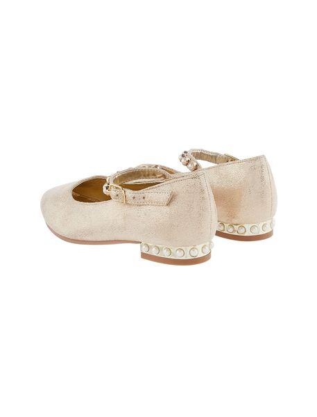 کفش مهمانی بندی دخترانه - طلايي  - 4