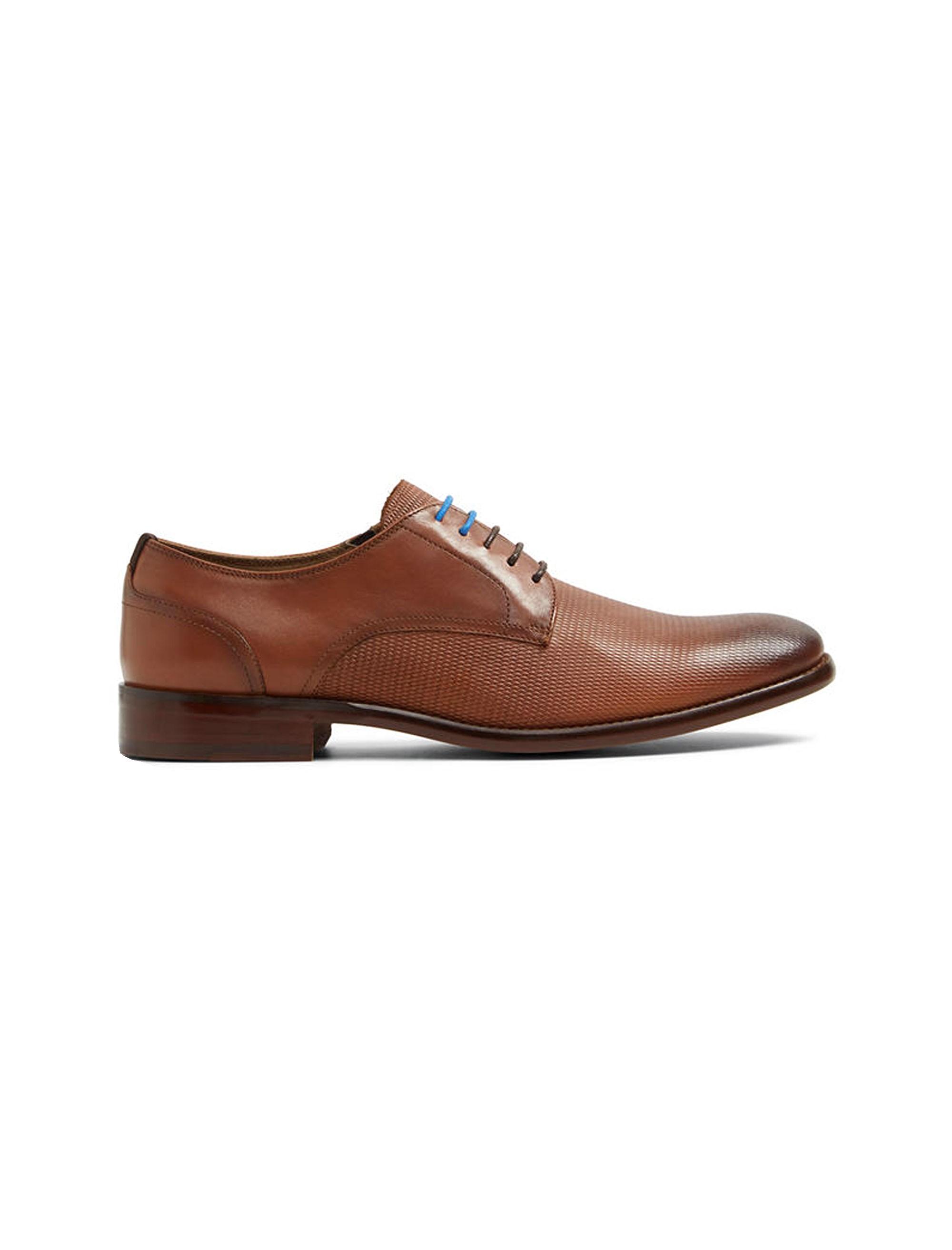 کفش رسمی چرم مردانه - قهوه اي - 1