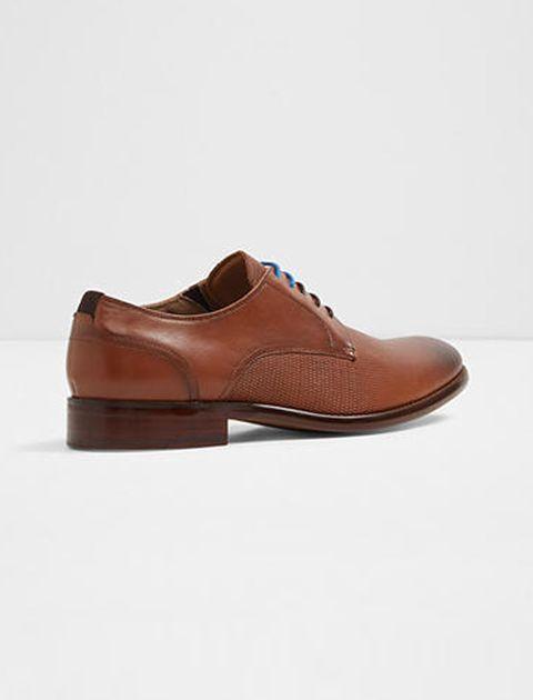 کفش رسمی چرم مردانه - قهوه اي - 2