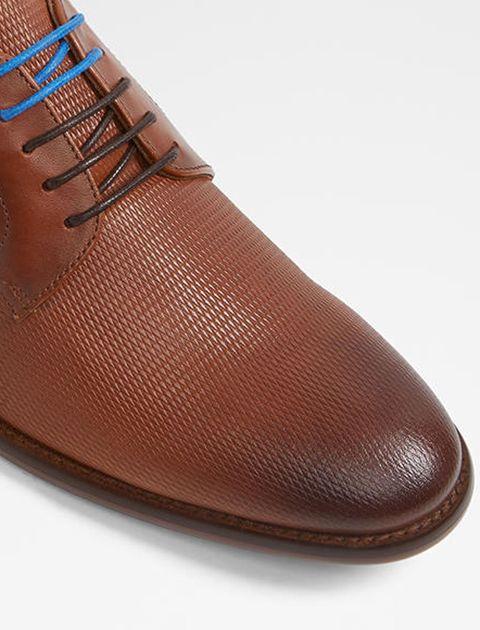 کفش رسمی چرم مردانه - قهوه اي - 4