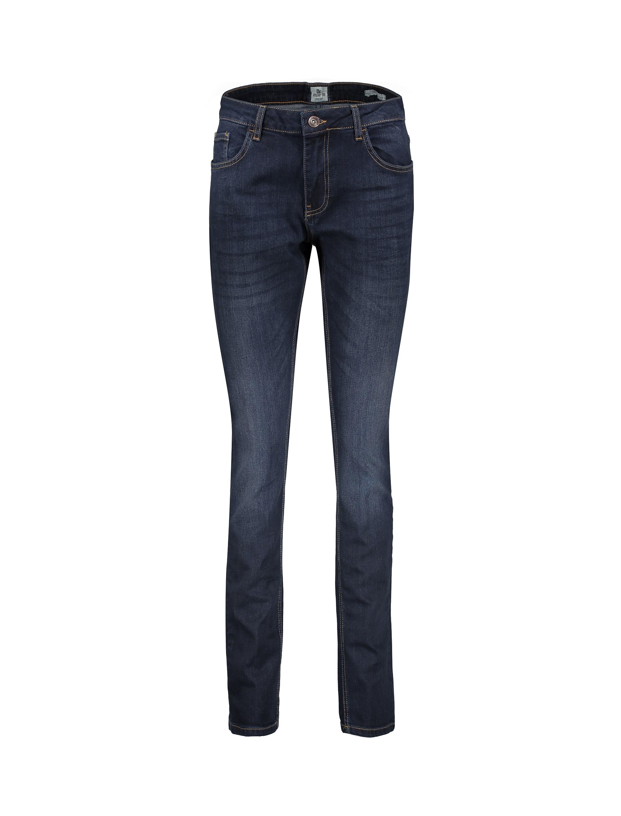 شلوار جین راسته مردانه - سرمه اي - 1