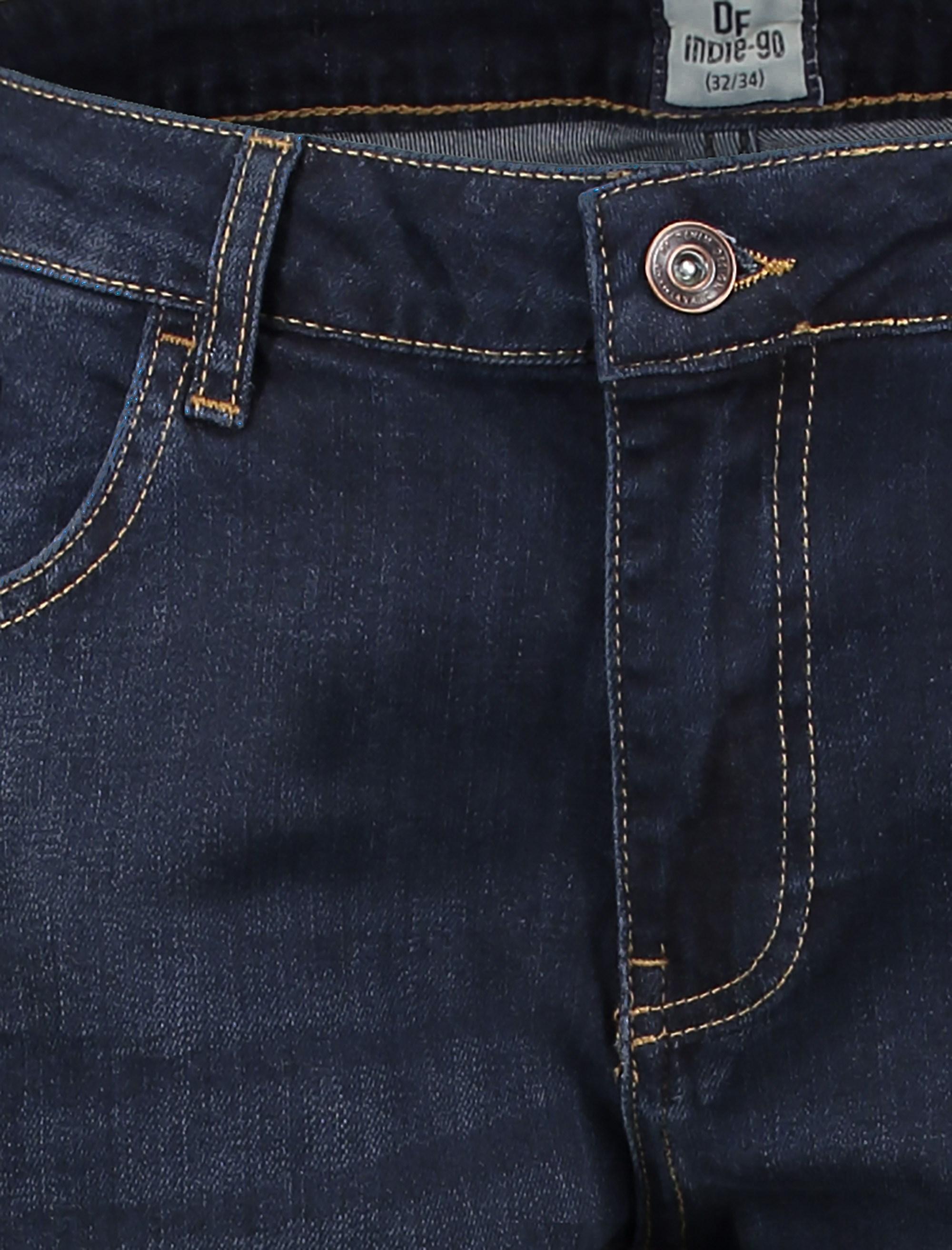 شلوار جین راسته مردانه - سرمه اي - 4
