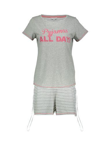 تی شرت و شلوارک راحتی نخی زنانه - لانژ اند اسلیپ