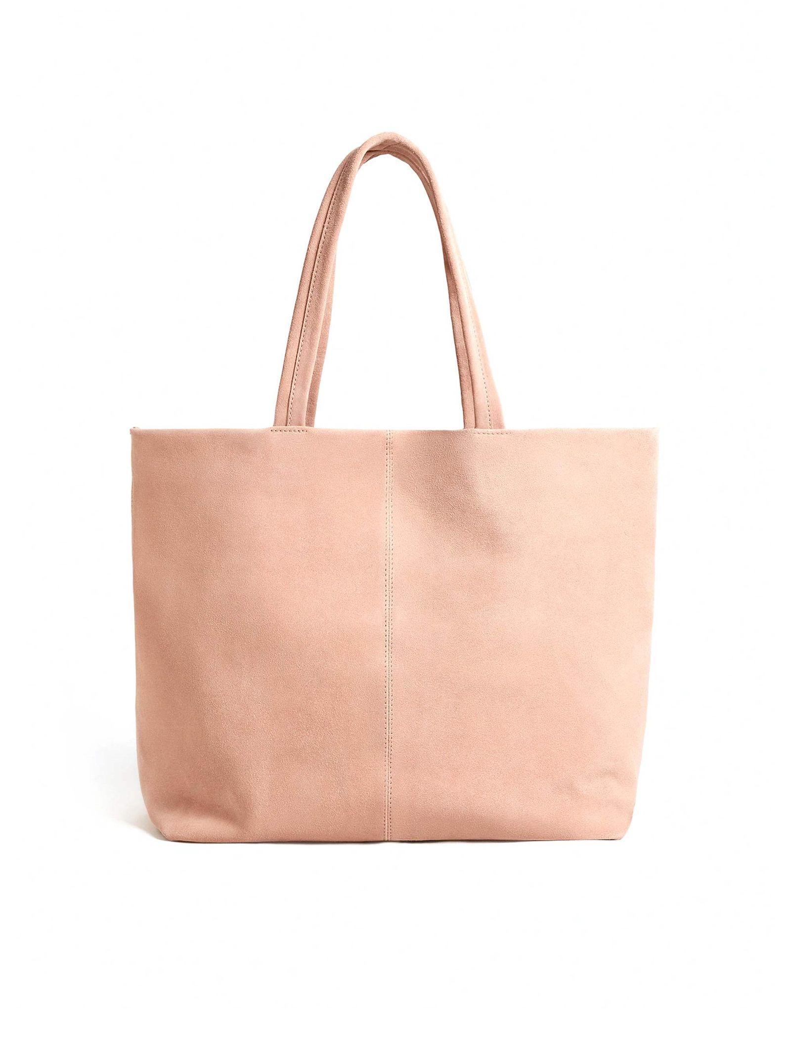 کیف دوشی روزمره زنانه - مانگو - صورتي کم رنگ - 1