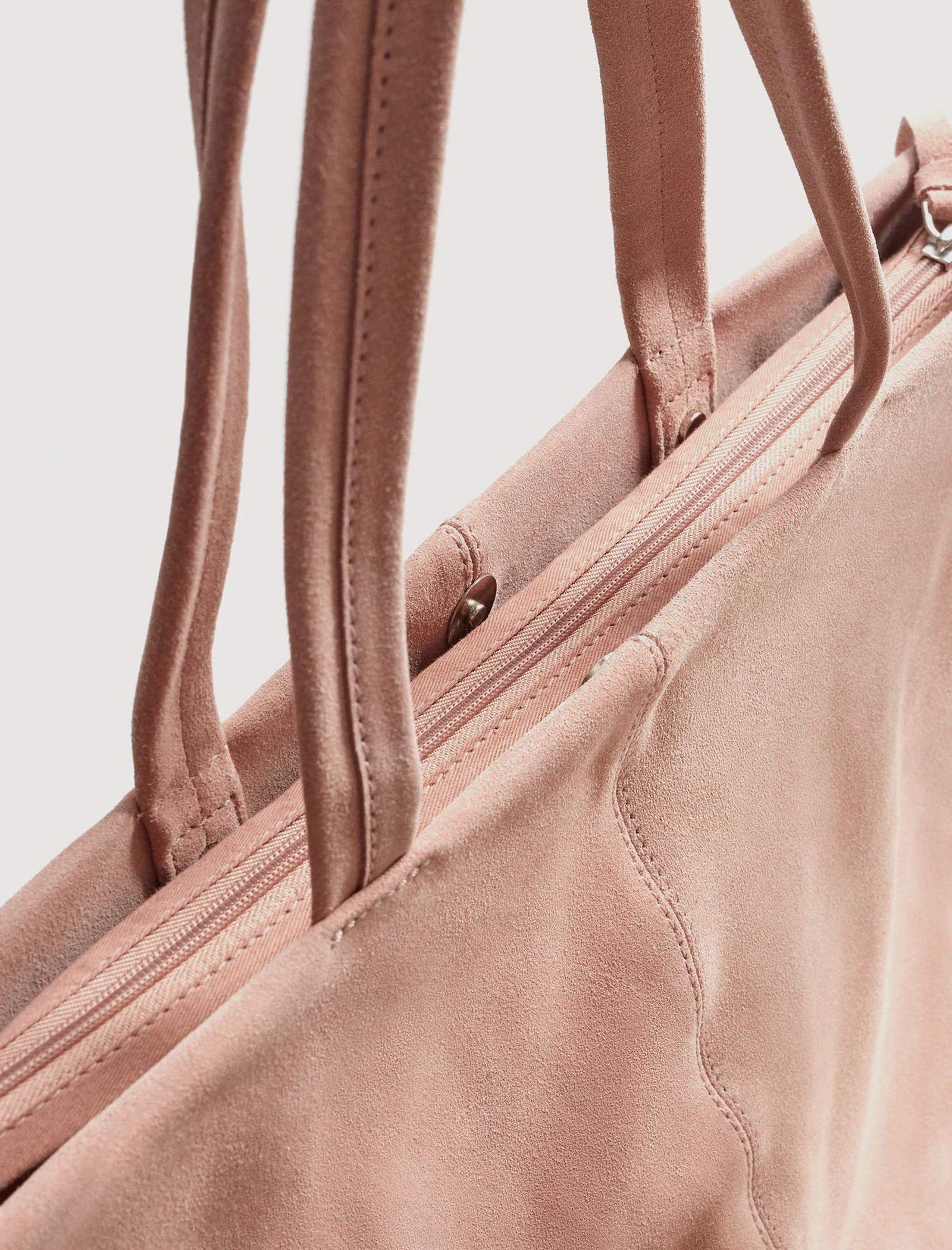 کیف دوشی روزمره زنانه - مانگو - صورتي کم رنگ - 3