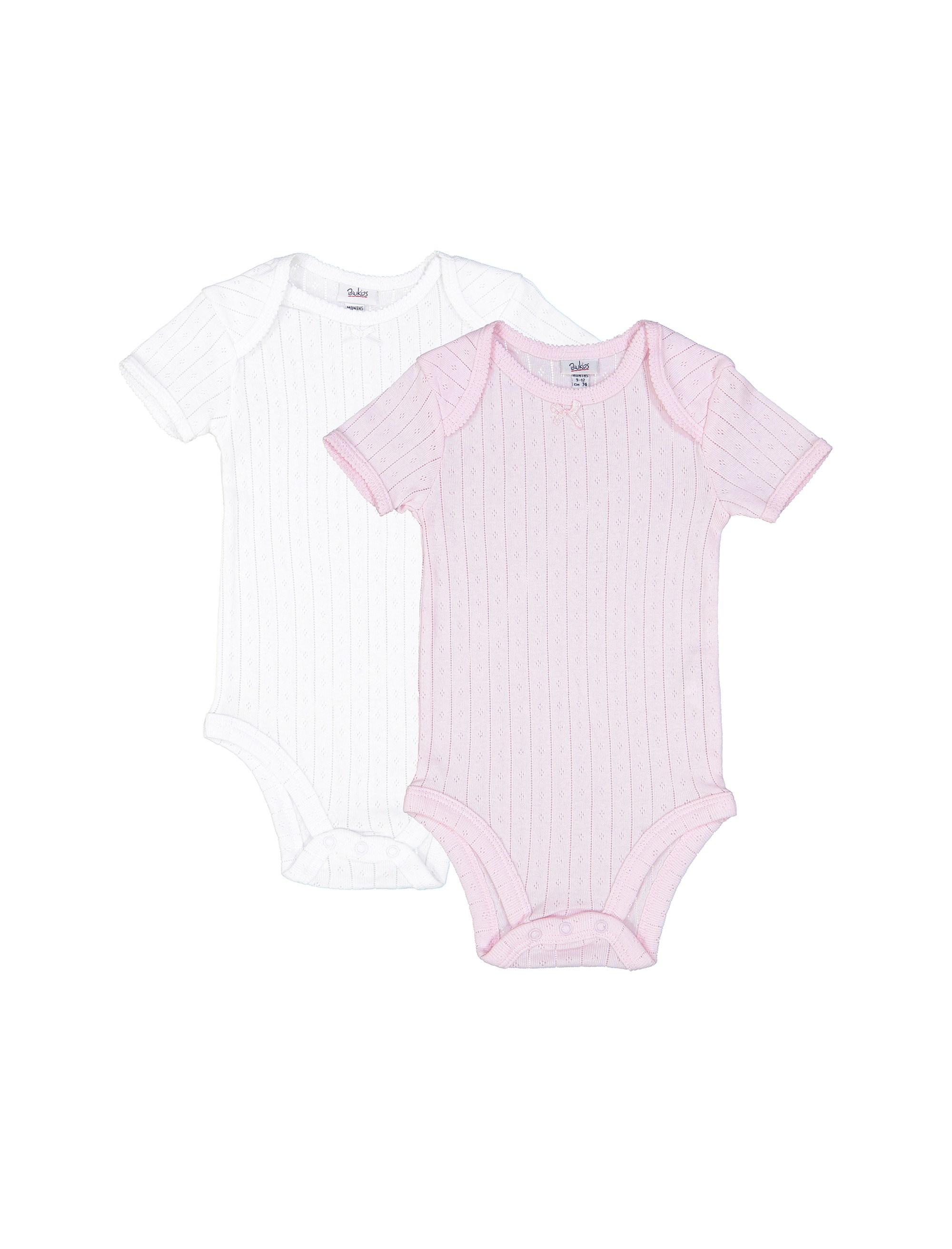 بادی نخی نوزادی دخترانه بسته 2 عددی