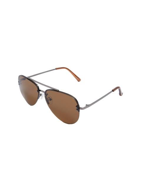 عینک آفتابی خلبانی مردانه - قهوه اي - 1