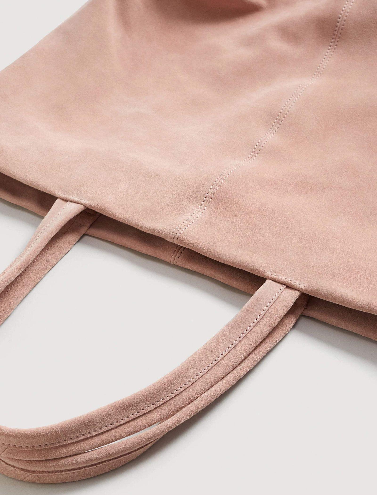 کیف دوشی روزمره زنانه - مانگو - صورتي کم رنگ - 4