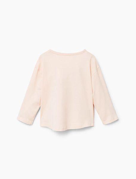 تی شرت نخی یقه گرد دخترانه - کالباسي روشن - 2