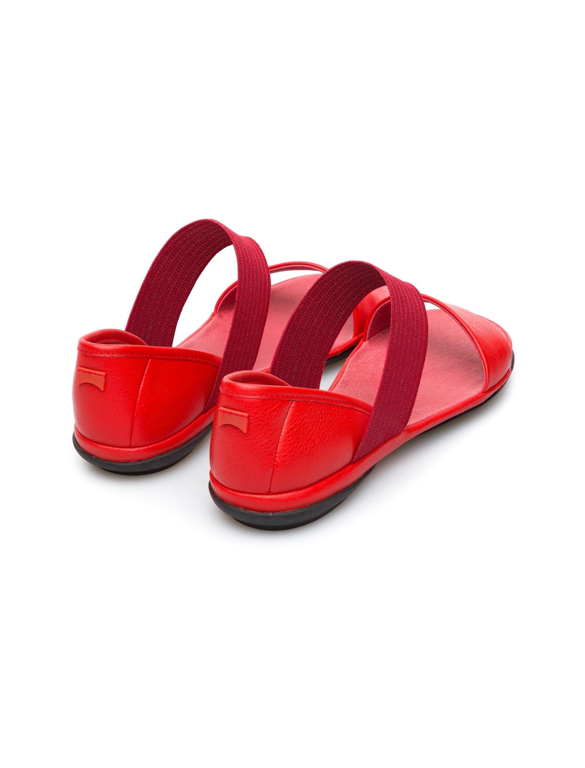 صندل تخت چرم زنانه Sella - کمپر - قرمز - 5