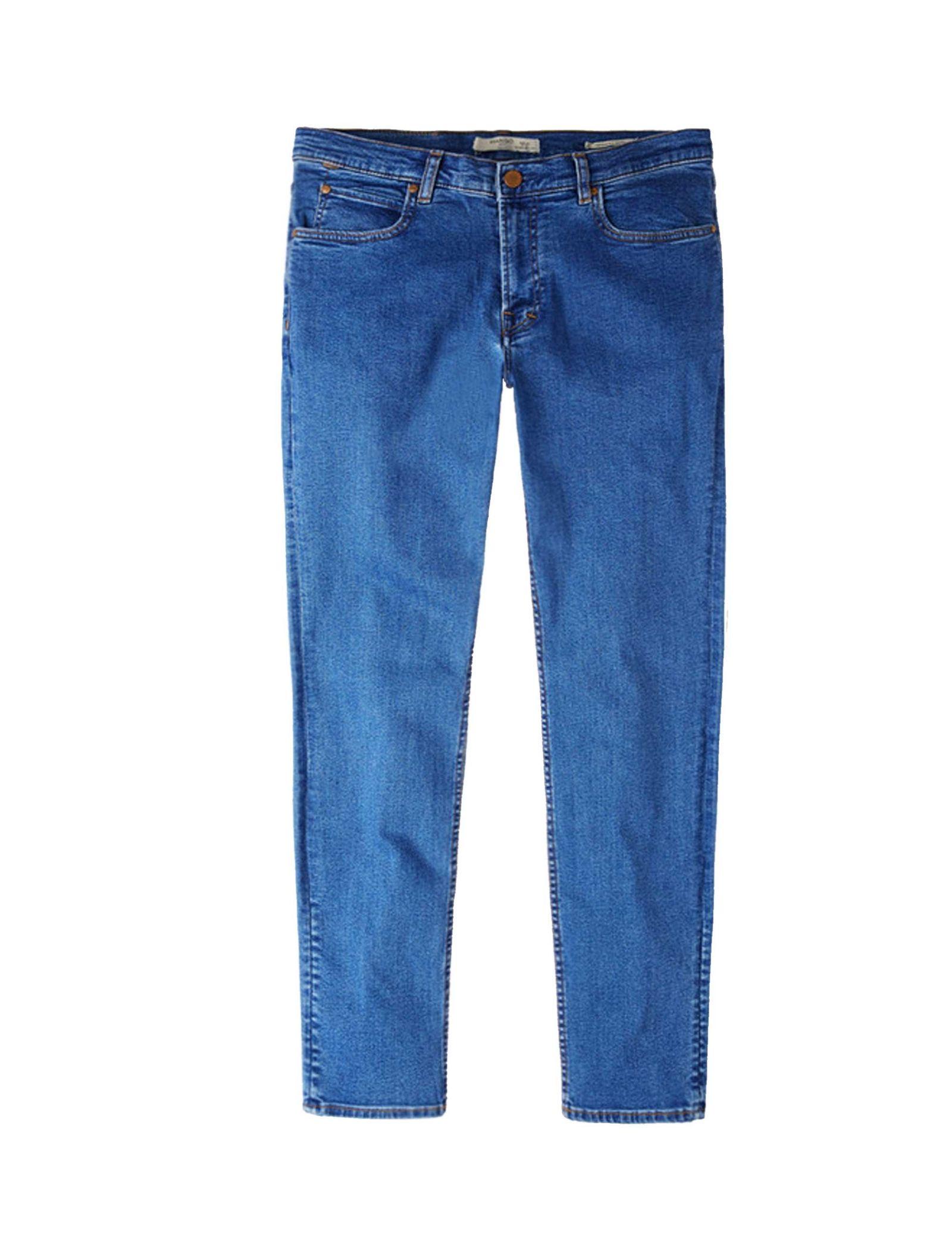 شلوار جین جذب مردانه - مانگو - آبي - 1