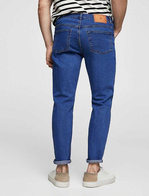 شلوار جین جذب مردانه - مانگو - آبي - 3