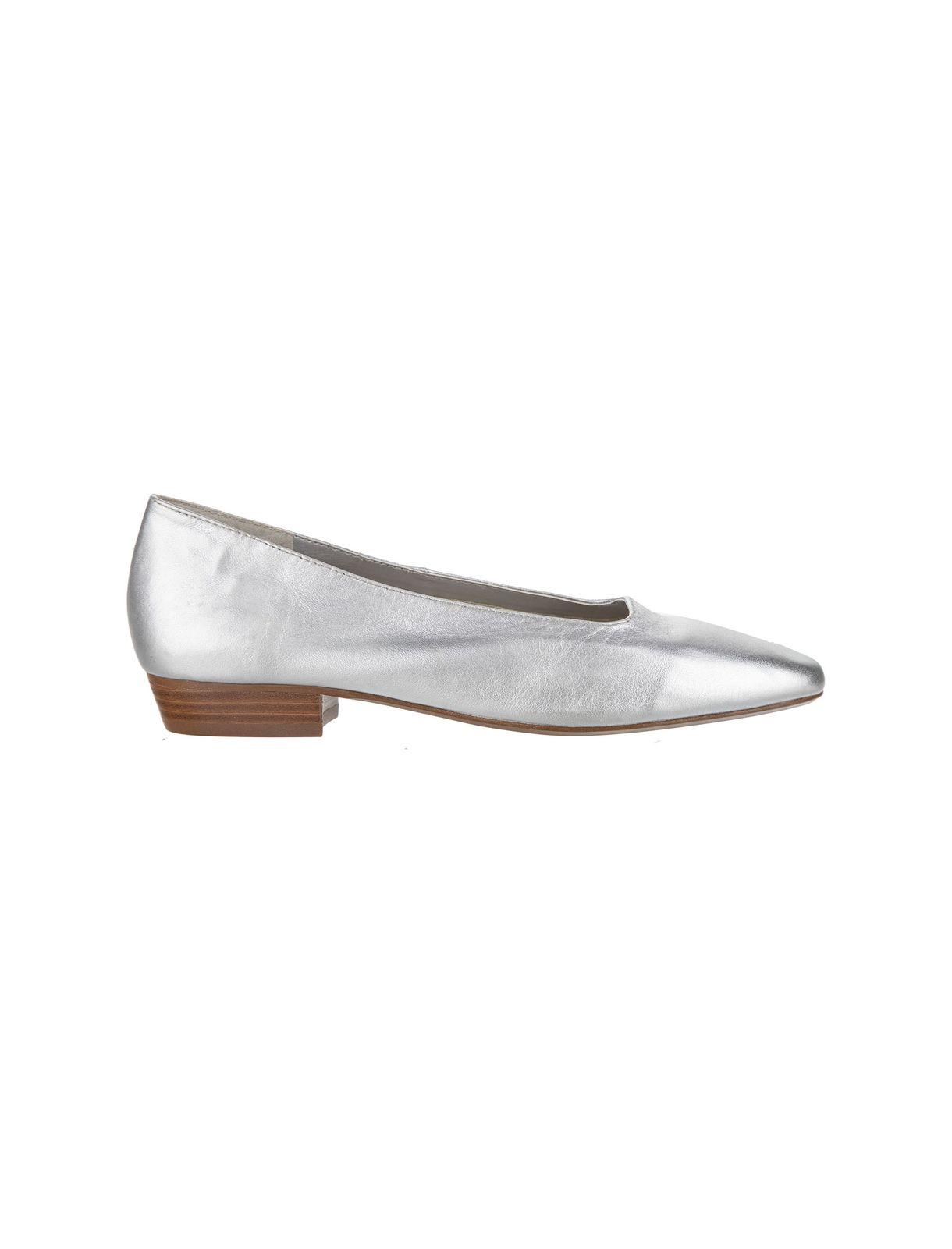کفش چرم تخت زنانه – مانگو  Women Leather Flat Shoes – Mango