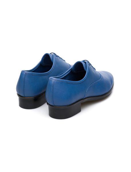 کفش چرم پاشنه کوتاه زنانه Supersoft - آبي  - 5