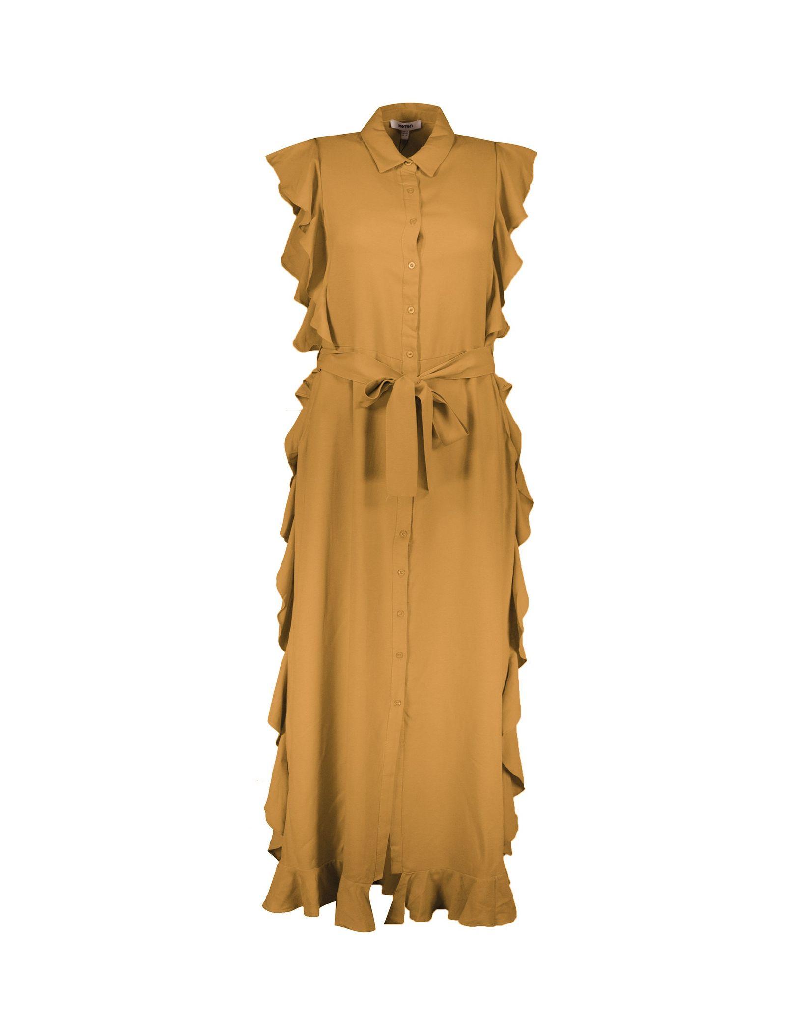 پیراهن ویسکوز بلند زنانه - کوتون - نارنجي - 1