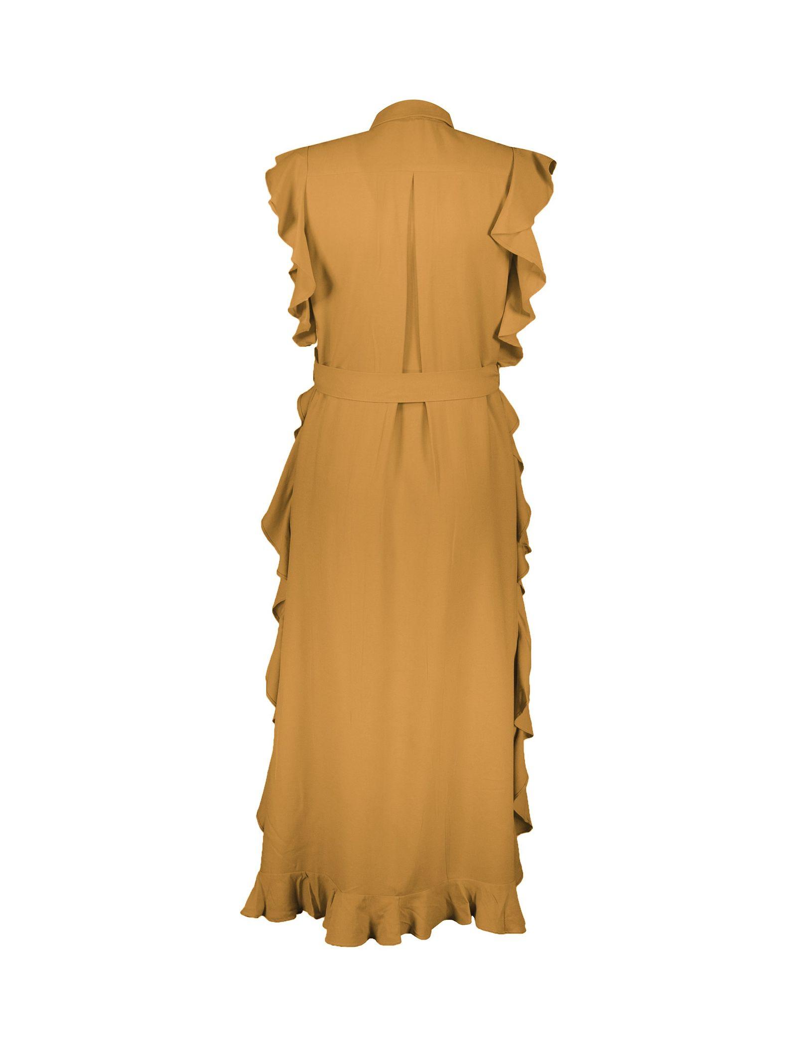 پیراهن ویسکوز بلند زنانه - کوتون - نارنجي - 2