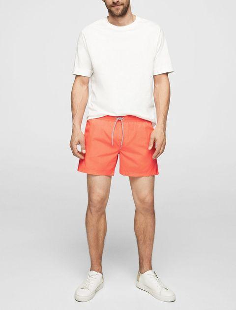 مایو ساده مردانه - نارنجي - 2