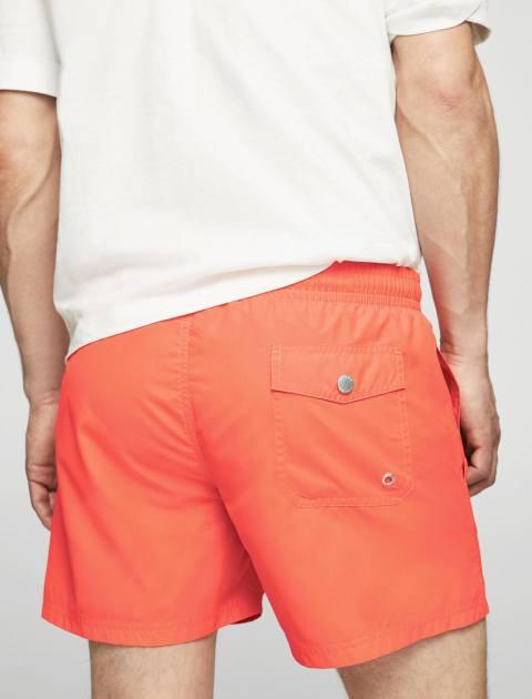 مایو ساده مردانه - نارنجي - 3