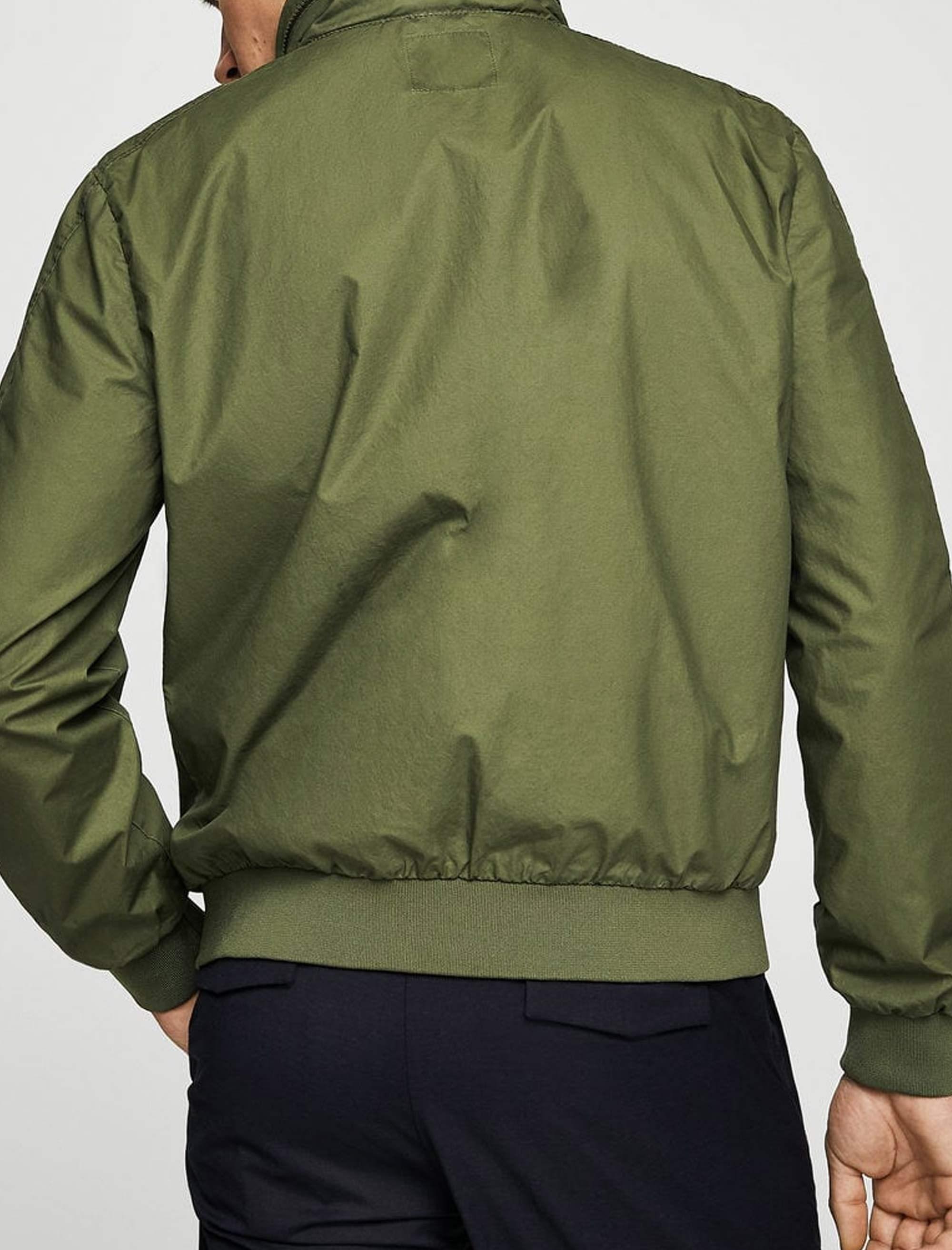 کاپشن نخی کوتاه مردانه - سبز  - 3