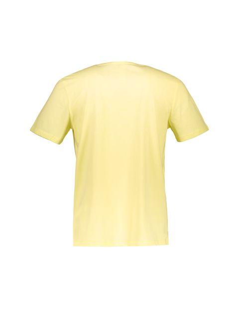 تی شرت نخی یقه هفت مردانه - زرد - 2