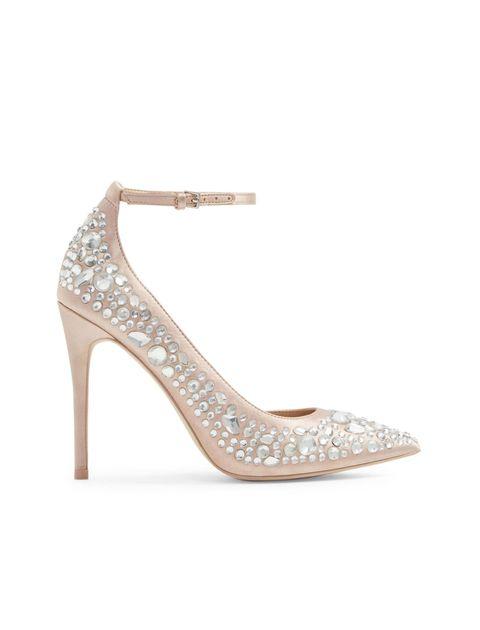 کفش پاشنه بلند پارچه ای زنانه - آلدو - صورتي روشن - 1