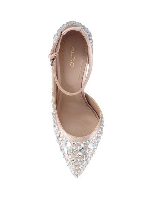 کفش پاشنه بلند پارچه ای زنانه - آلدو - صورتي روشن - 2